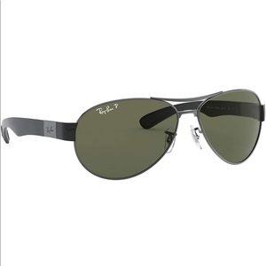 Ray-Ban RB 3509 Oval Aviator Sunglasses - Black Lens Frame